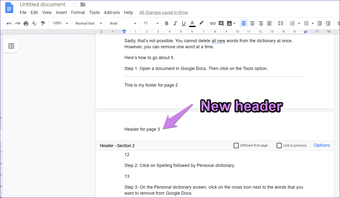 Cre­ate a Dif­fer­ent Head­er and Foot­er for Each Page in Google Docs, WPFaqhub