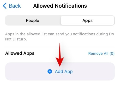 Whitelist People and Apps To Allow Interruptions From Them iOS 15 Focus, WPFaqhub
